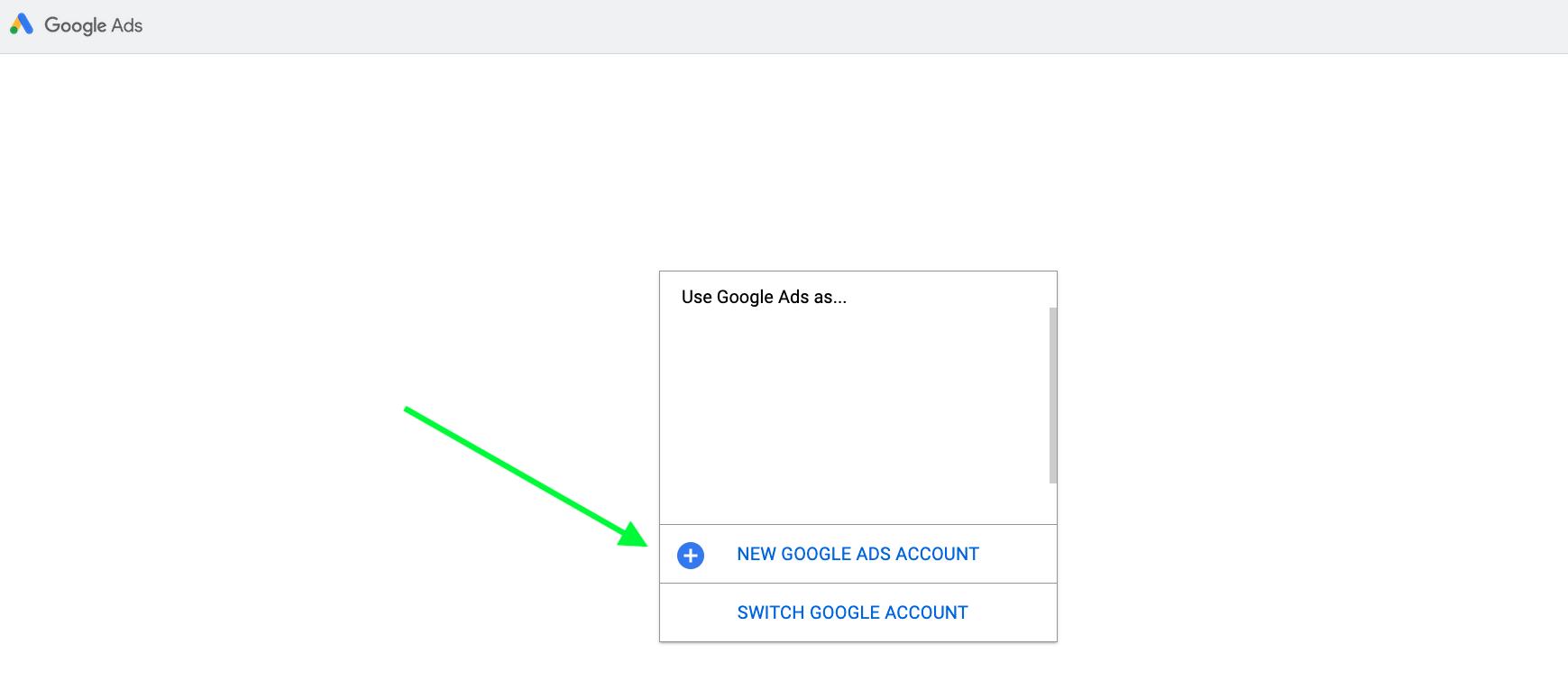 Create new Google Ads Campaign