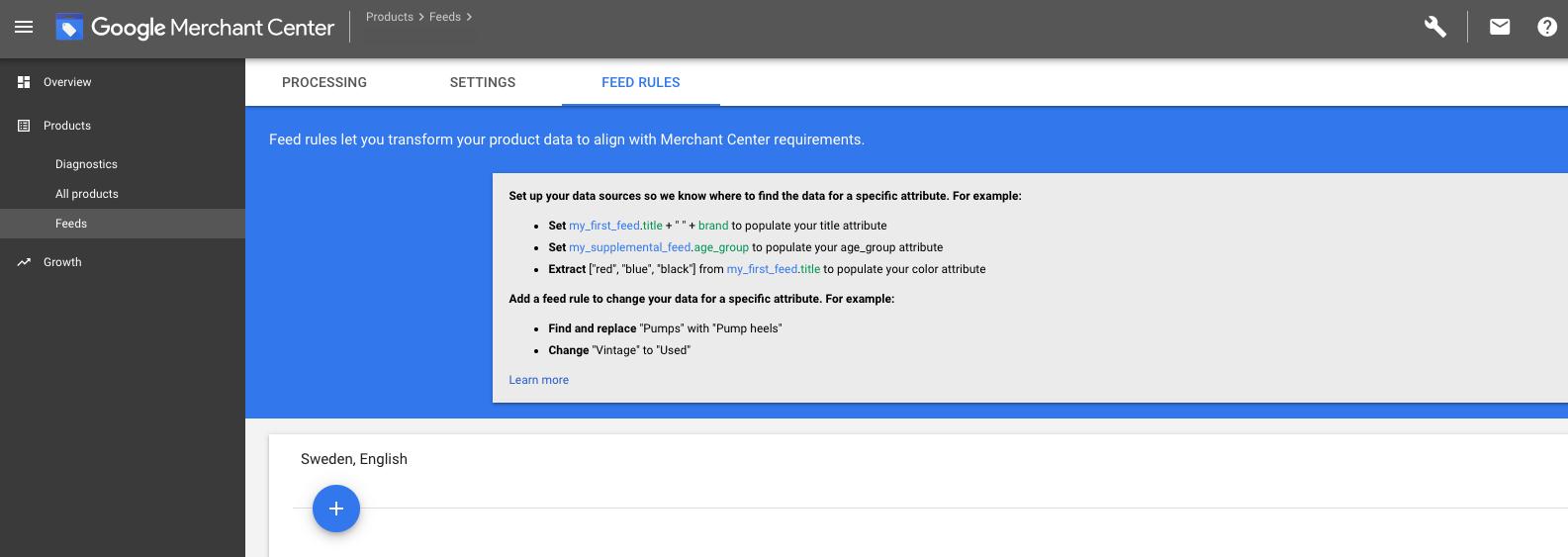 Google Merchant Center - Rules