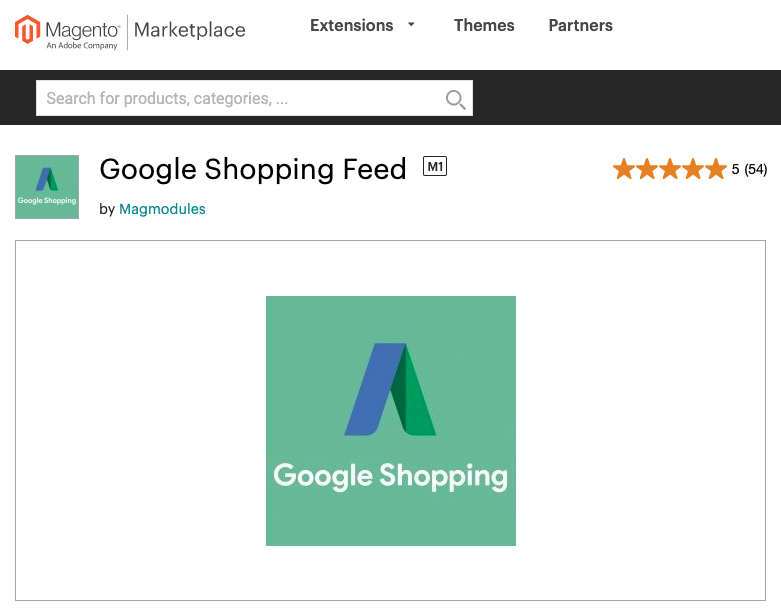 Google Shopping feed - Magento