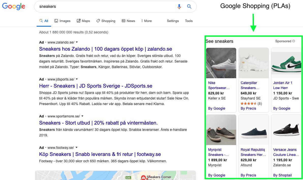 Product Listing Ads -PLAs