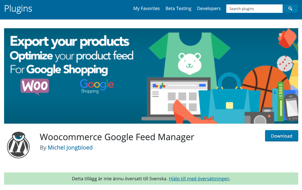 Woo commerce - google shopping feed